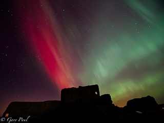 Aurora over Duffus Castle taken by Gary Paul